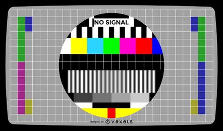 Tela de teste de televisão sem ilustração vetorial de sinal