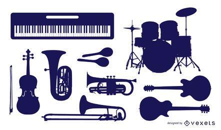 Gráficos vetoriais de instrumentos musicais
