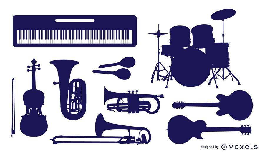 Music Instruments Vector Graphics