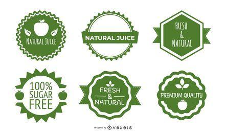 Vector de etiqueta de botella verde