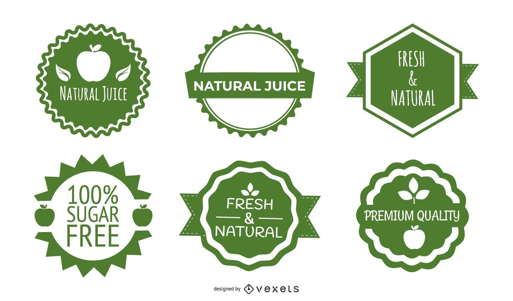 Green Bottle Label Vector