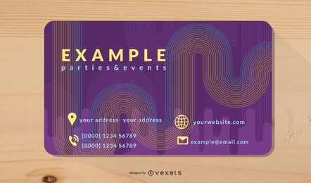 Brilliant Dynamic Flow Business Card