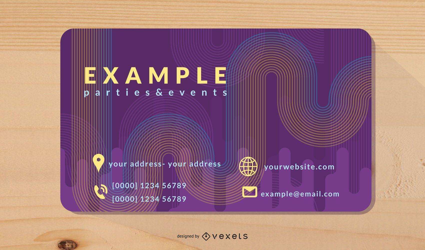 Brilliant Dynamic Flow Business Card