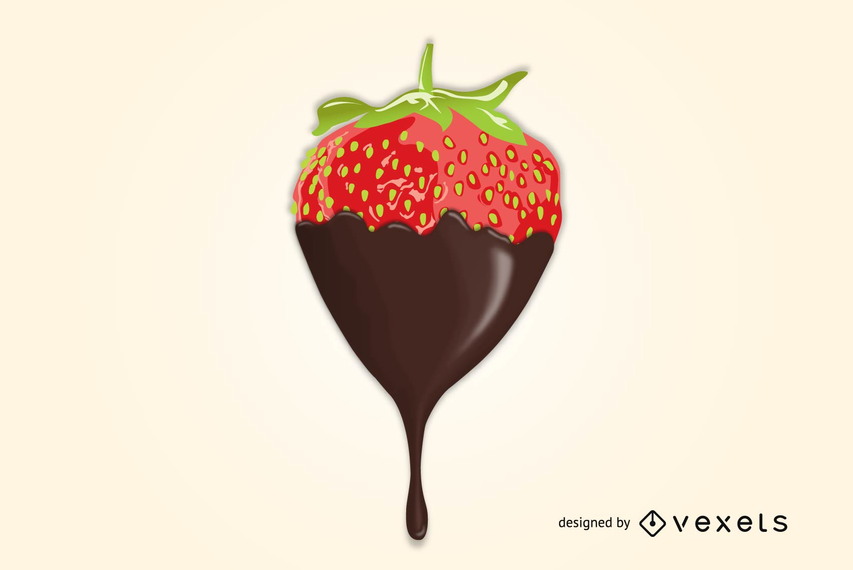 Delicious Chocolate Dipped Strawberry