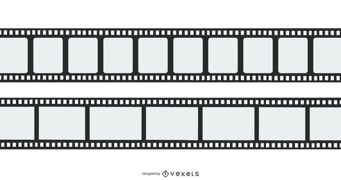 Flat Film Reel Vector Design