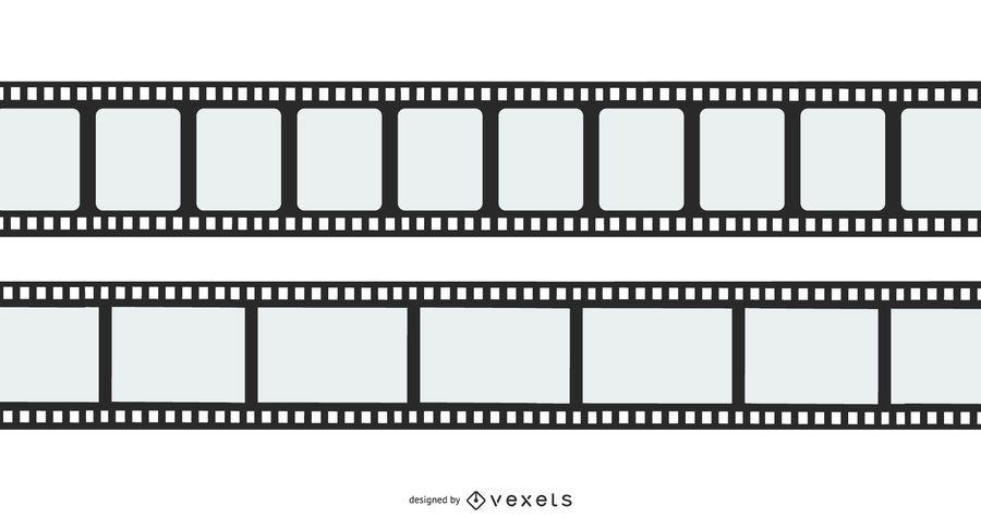 Flat Film Reel Vector Design