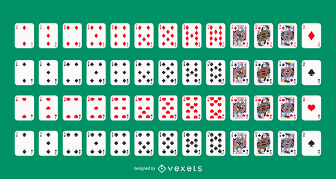 Baralho de cartas de jogar de vetor