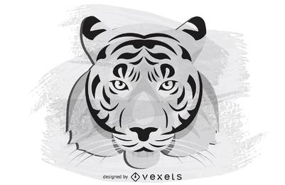 Vector de cabeza de tigre
