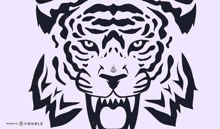 Tiger Bild 27 Vektor