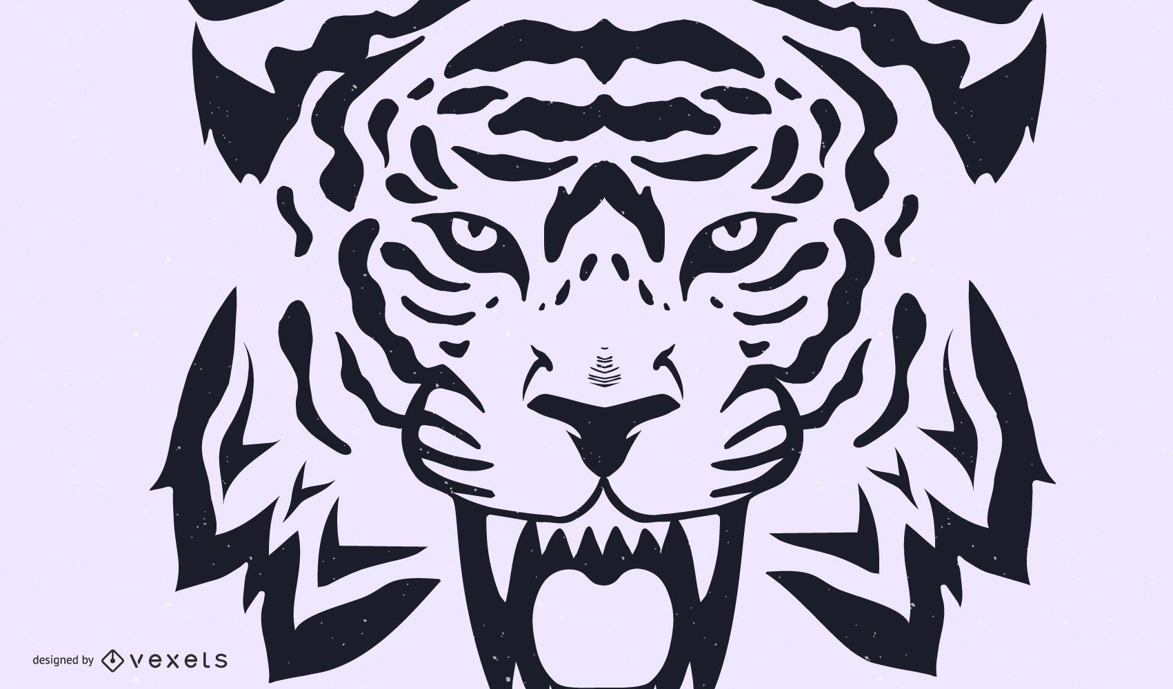Vector de imagen de tigre 27