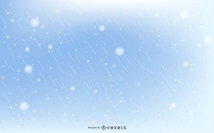 Flocos de neve e gotas de chuva