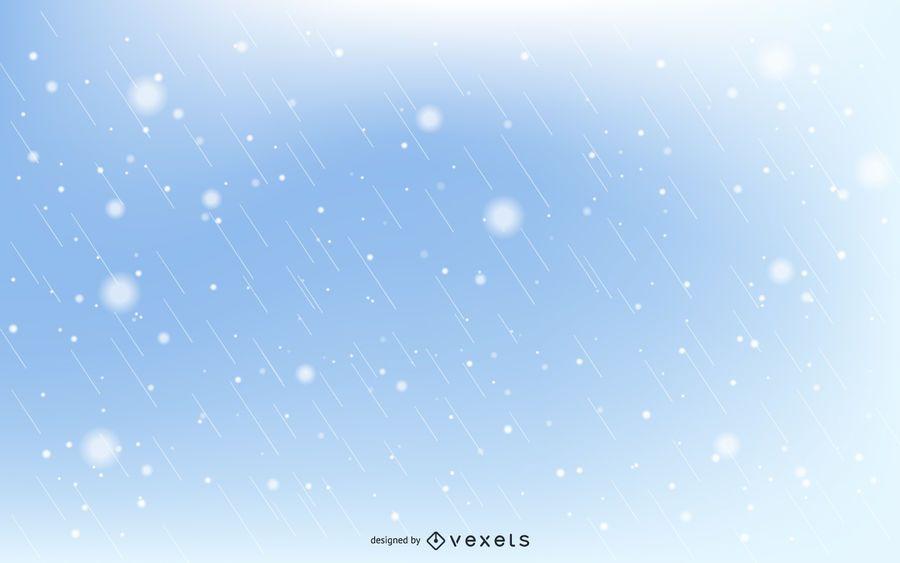 Snow Flakes And Rain Drops