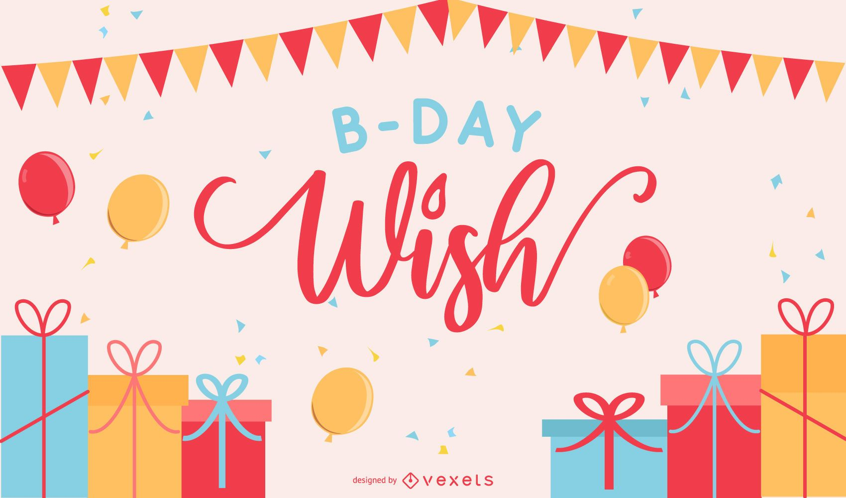 Happy Birthday Postcard 02 Vector