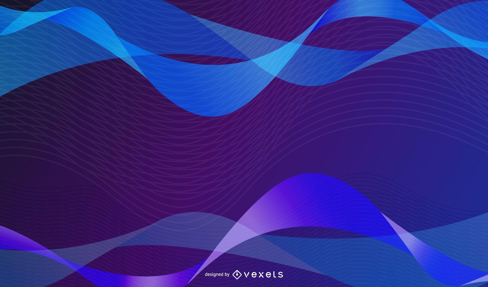 Vector de línea de flujo dinámico de color brillante 02