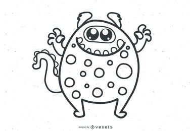 Cute Vector Monsters muestra gratis