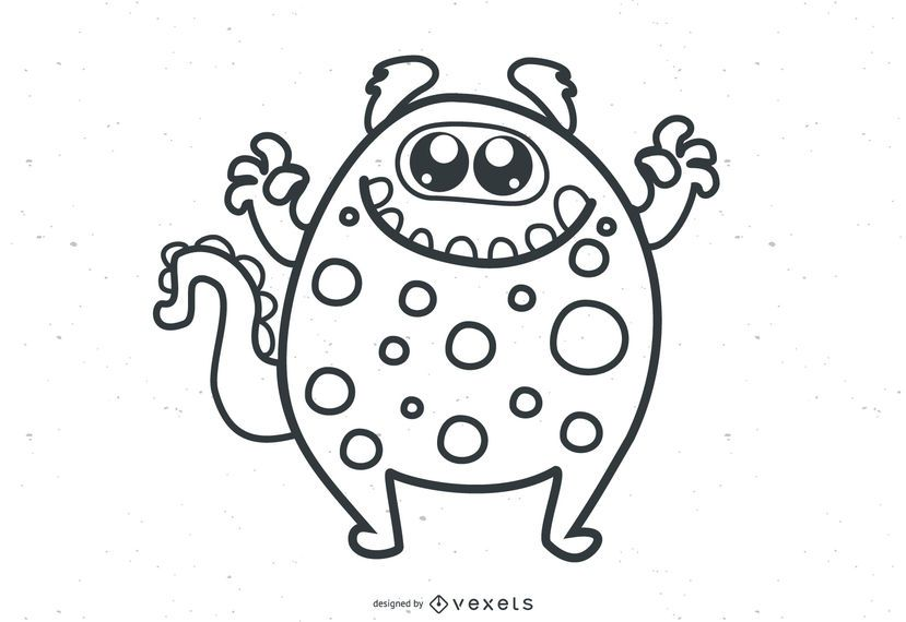 Cute Vector Monsters muestra gratis