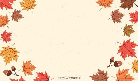 Vetor de tema outono