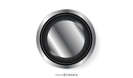 Botão Platinum Black Circle
