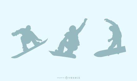 Arte de vetor de snowboard