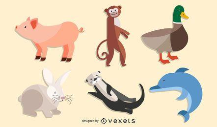 Vetores de personagens animais