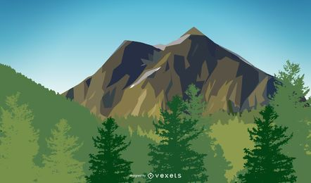 Mountain Scenery Vector