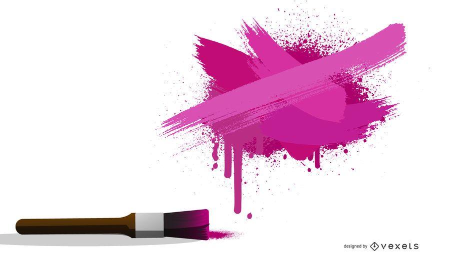 Color Ink Splash Poster Vector