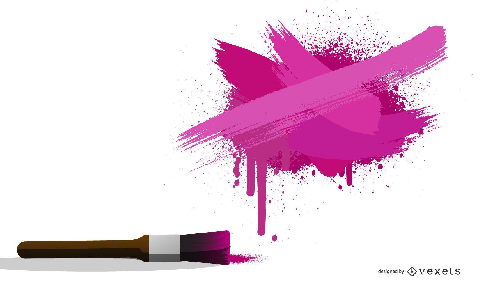 Tinta de color Splash Poster Vector