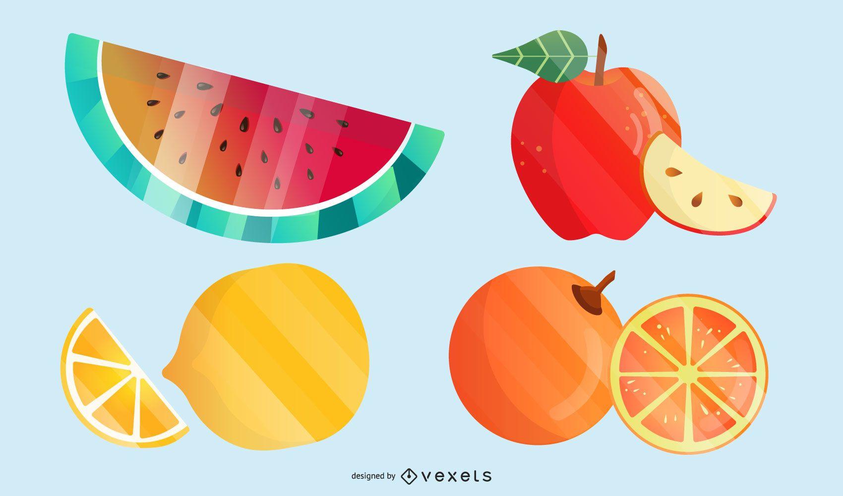 Fruit Theme Vector Diamond