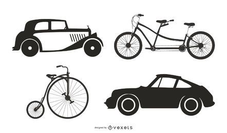 Antique Vehicles 05 Vector