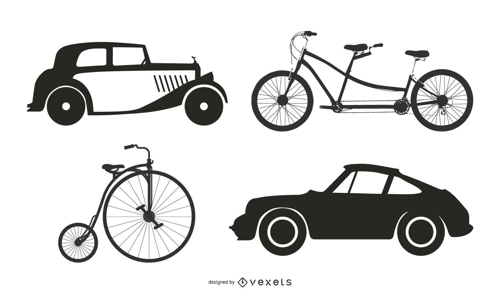 Antique Vehicles 05 Vector