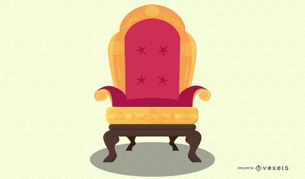 european antique chair illustration