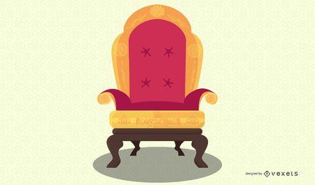 ilustración de silla antigua europea