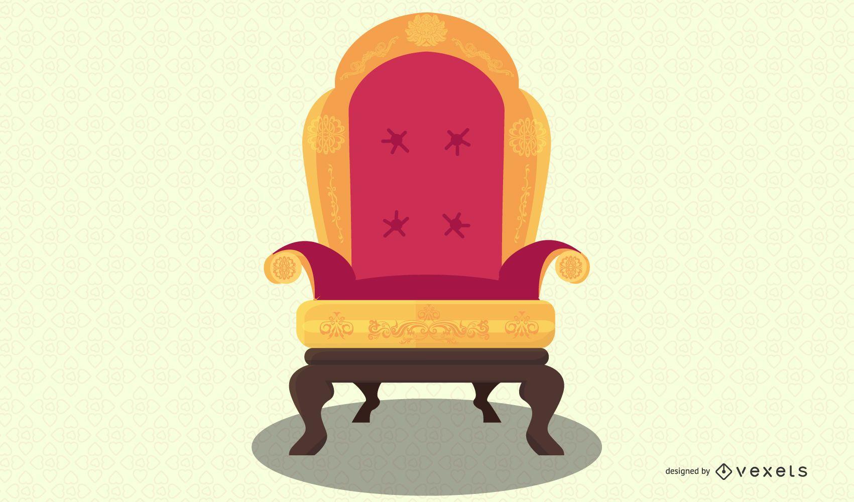 european antique chair illustration
