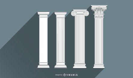 Europäischer Säulenvektor