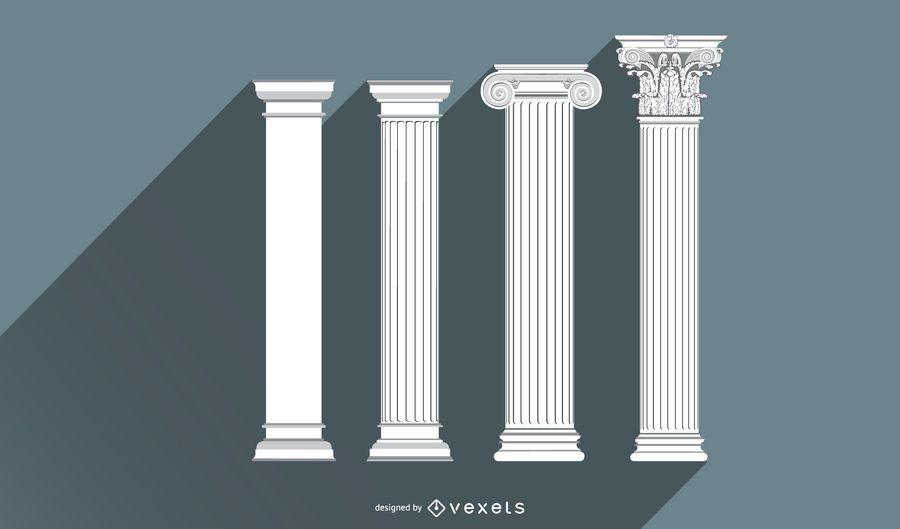 Vector de pilar europeo