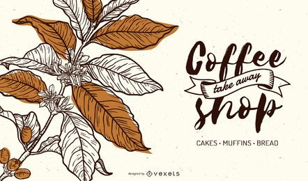 Diseño de banner de café de lujo