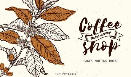 Luxus Kaffee Banner Design