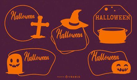 Colección de etiquetas de Halloween