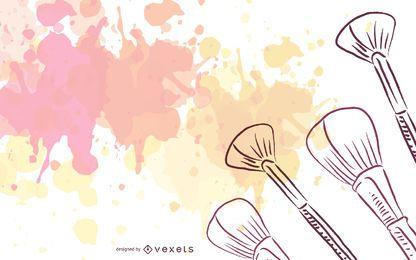 Moda maquillaje belleza vector