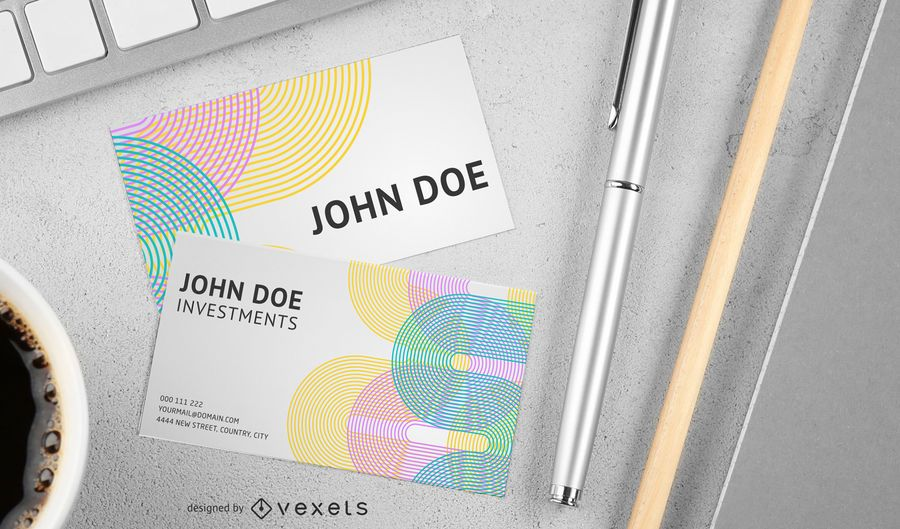 Dynamic Lines Of Business Card Templates Vector