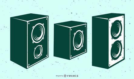 Altavoces Vector Set 2