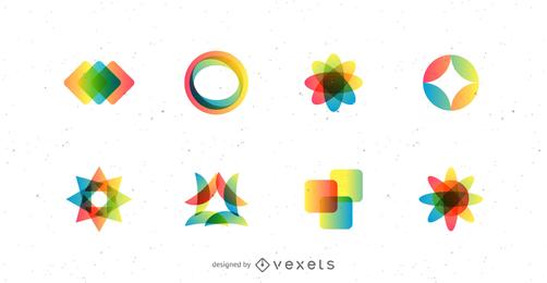 Vector de logotipo de color simple