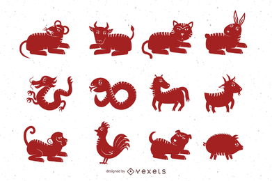 Eine andere Version des Zodiac Papercut Vector