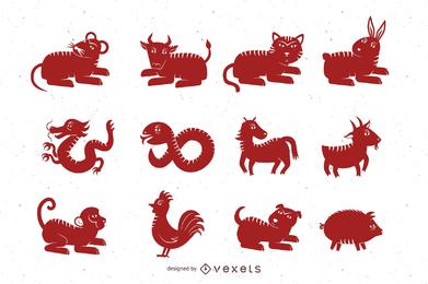 Outra versão do vetor Papercut Zodiac