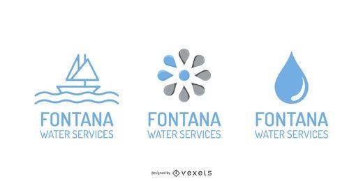 Vector de gráficos de logotipo de tema de agua