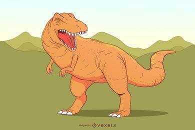 Banda Desenhada Japonesa Pequeno Dinossauro Argonne