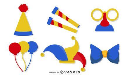 Clown Set Vektor