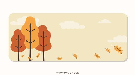 Trees Decorative Banner Vector Design
