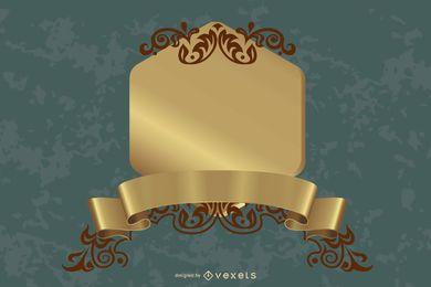 Oro decorativos gráficos vectoriales