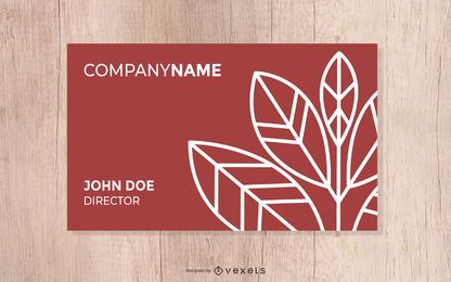 Herbst-Farbmode-Trend-Vektor-Autumn Business Card Card